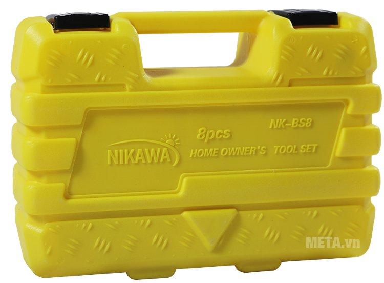 Bộ dụng cụ 8 món Nikawa NK-BS008 đi kèm hộp đựng nhựa với khóa chốt chắc chắn