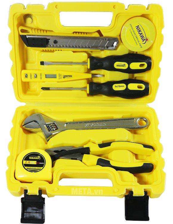 Bộ dụng cụ 8 món Nikawa NK-BS008 sắp xếp các dụng cụ gọn gàng trong hộp