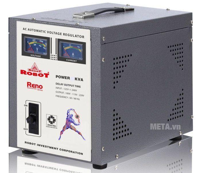 Ổn áp Robot Reno 20KVA có lớp vỏ cách điện với nhiều lỗ tản nhiệt cho động cơ hiệu quả