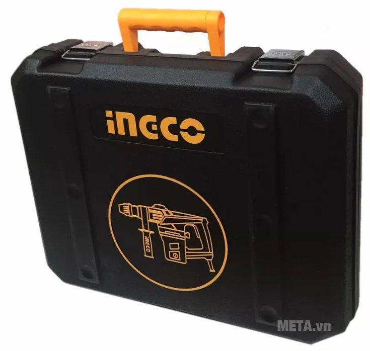 Máy khoan búa INGCO RH12008 có hộp đựng nhựa màu đen