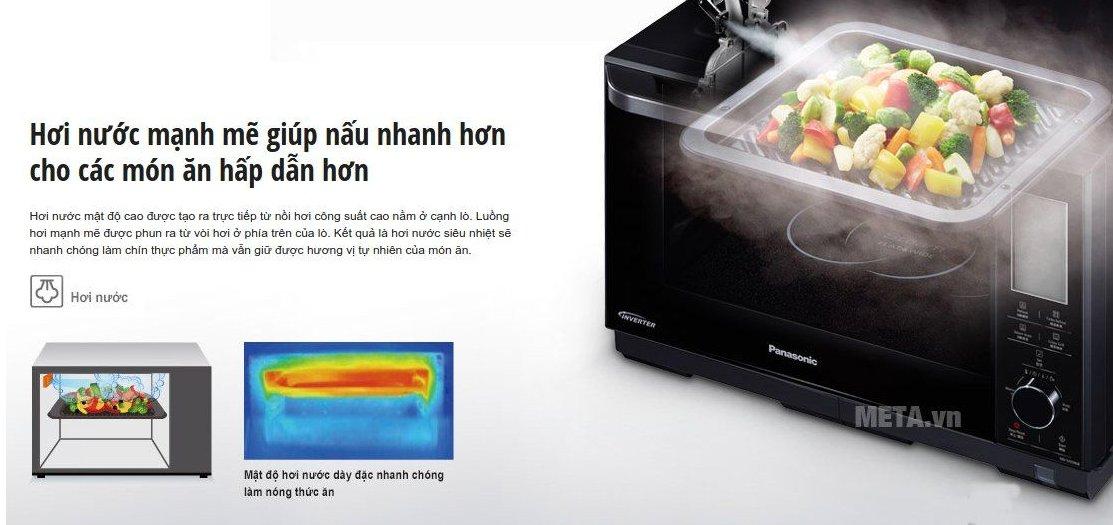 Lò vi sóng điện tử Panasonic NN-DS596BYUE cho các món ăn hấp dẫn