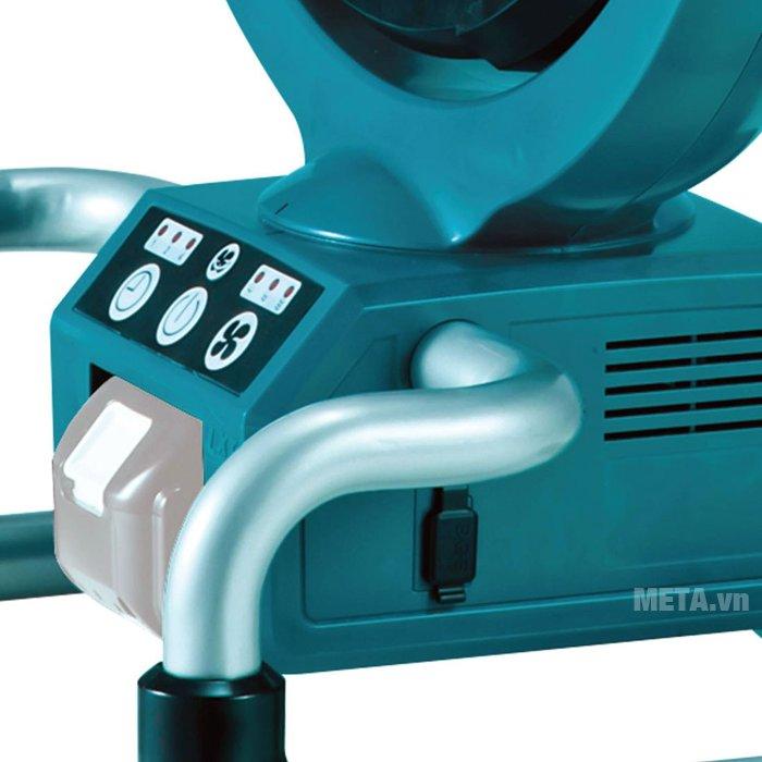 Quạt chạy pin Makita DCF300Z có màu xanh trang nhã