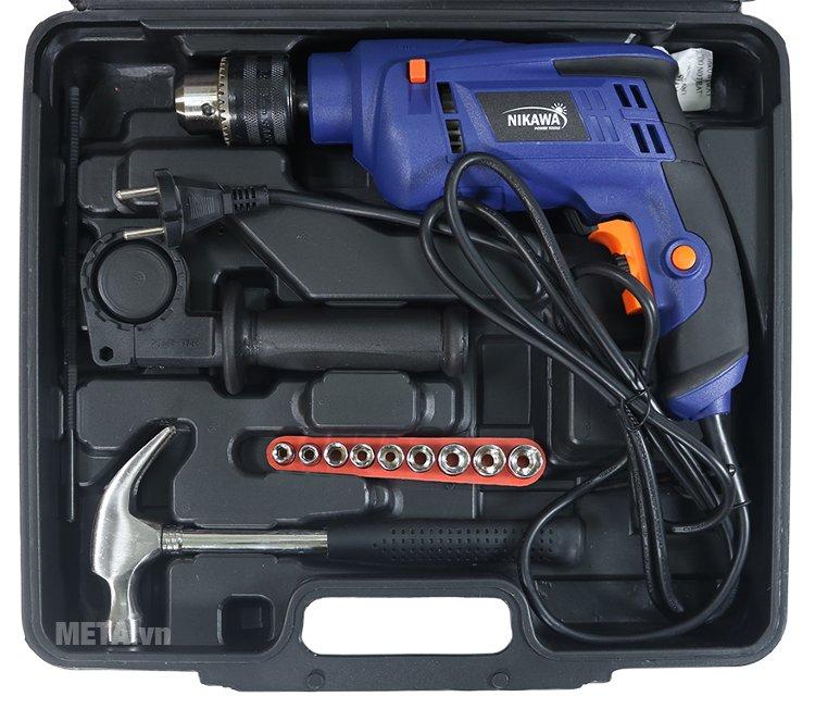 Máy khoan động lực Nikawa ID38 có tay cầm phụ, sử dụng điện áp 220V Máy khoan động lực Nikawa ID38 có tay cầm phụ, sử dụng điện áp 220V