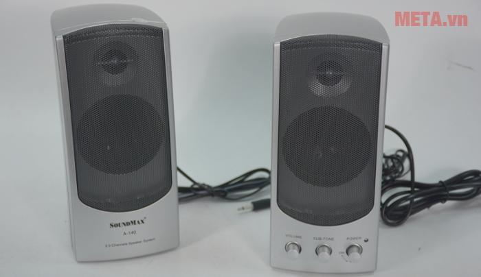 Loa SoundMax A140 2.0 đem lại chất lượng âm thanh chuyên nghiệp