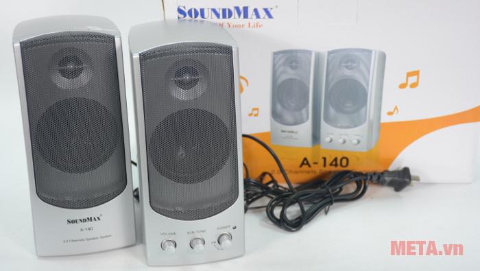 Loa SoundMax A140 2.0 thiết kế hiện đại.