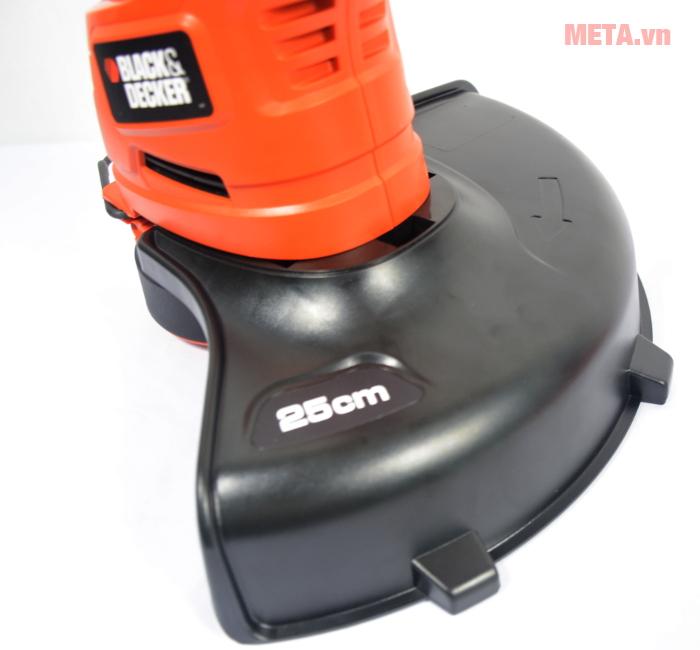 Lồng bảo vệ của máy cắt cỏ cầm tay Black&Decker GL4525 có kích thước 25cm