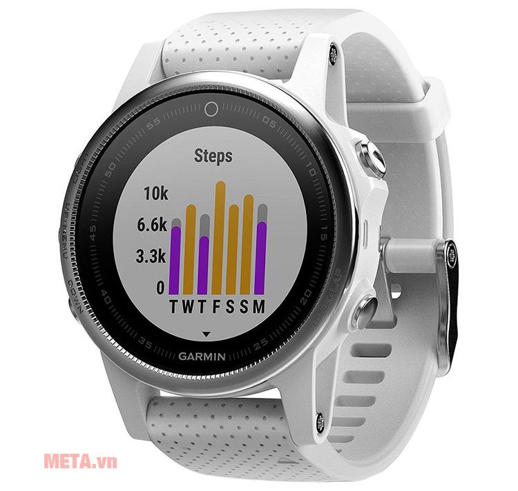 Vòng đeo tay Garmin Fenix 5S có khả năng đo nhịp tim
