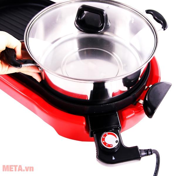Bếp lẩu của bếp lẩu nướng điện Sunhouse SHD4650