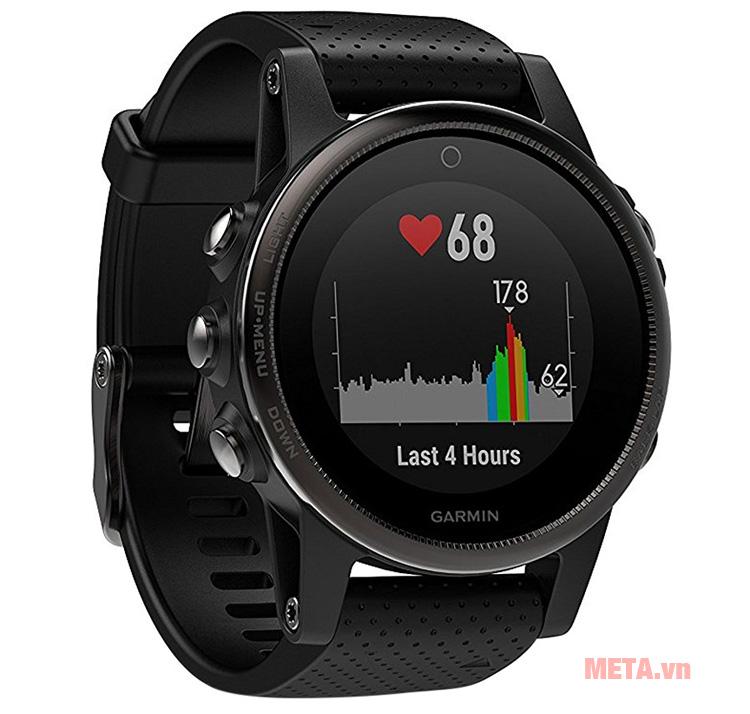 Đồng hồ đeo tay theo dõi sức khỏe Garmin Fenix 5S có khả năng đo nhịp tim