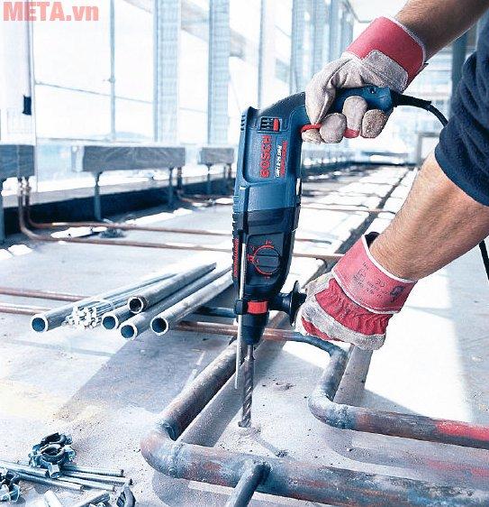 Máy khoan Bosch GBH 2-26 DRE cho khả năng khoan bê tông đường kính 26mm