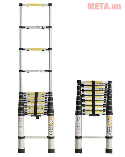 Thang xếp đơn có đai nhựa cao cấp bảo vệ thang