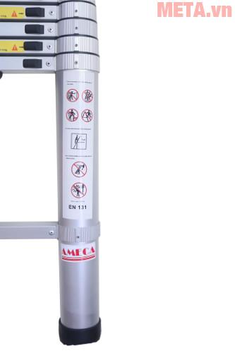 Các bậc thang được cố định tạo độ an toàn cho bạn khi sử dụng