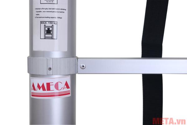 Thang nhôm xếp đơn đai nhôm AMC-380D có chiều dài rút gọn 0,81m