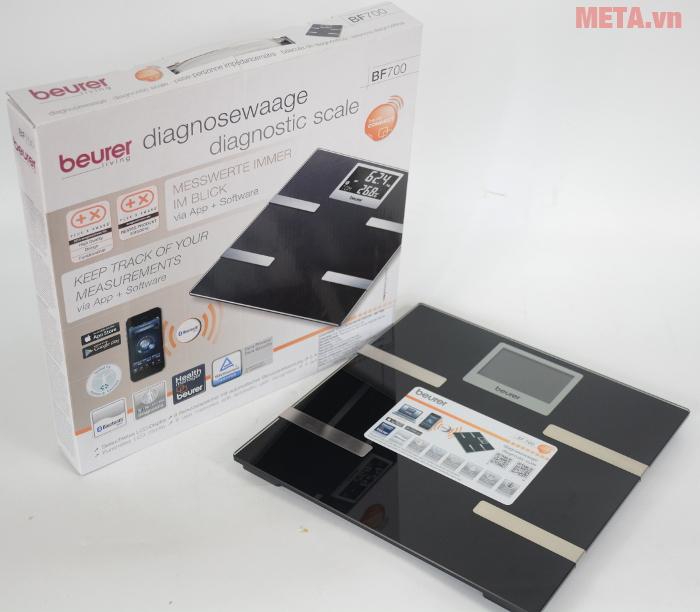 Cân có khả năng kết nối với máy tính bảng và điên thoại qua Bluetooth