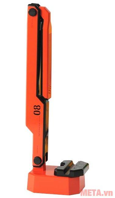 Máng đèn bàn Led Hàn Quốc đổi màu Prism M-08RD có thể gập gọn như hình