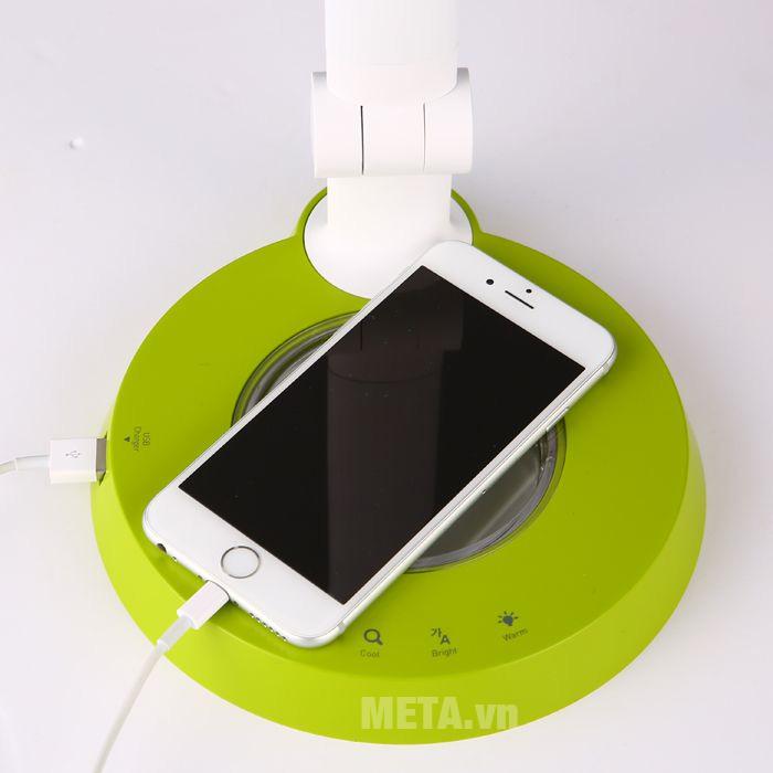 Đèn bàn led Hàn Quốc cảm ứng Prism 6300GR có cổng sạc smartphone
