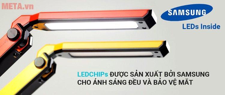 Đèn bàn Led Hàn Quốc đổi màu Prism M-08YL cho ánh sáng đều và bảo vệ mắt