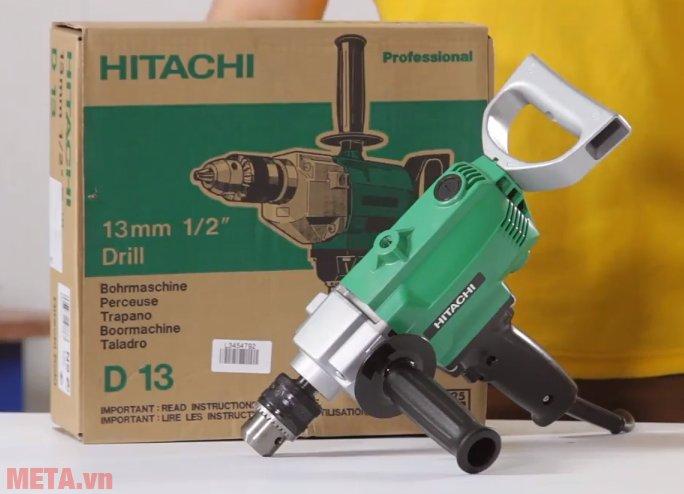 Máy khoan sắt Hitachi D13 bảo quản trong hộp đựng giấy