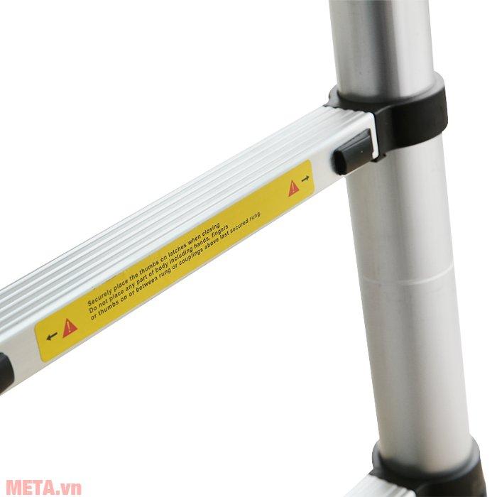 Thang nhôm xếp đôi Ameca AMI-560 thiết kế khung ống thang có đường kính lớn