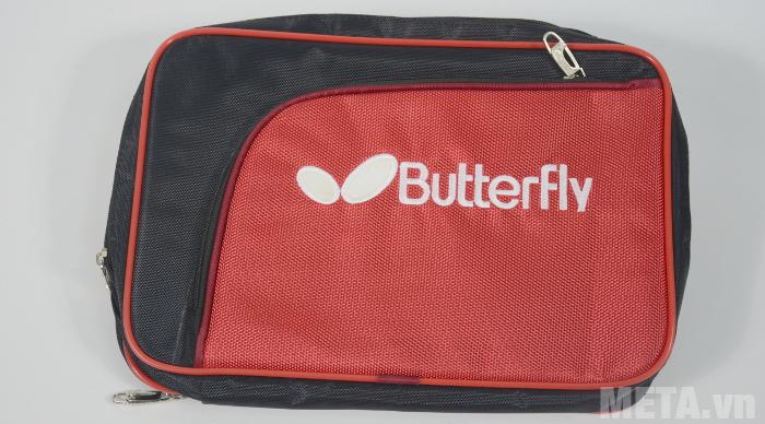 Túi bóng bàn vuông 2 ngăn Butterfly CA màu đỏ