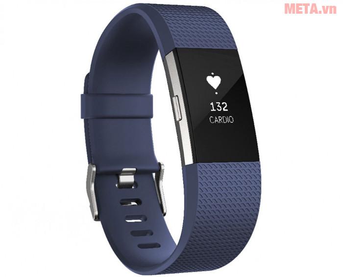 Vòng tay theo dõi sức khỏe Fitbit Charge 2 màu Blue Silver