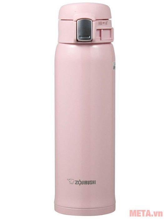 Bình giữ nhiệt nóng lạnh Zojirushi SM-SA48 màu hồng nhạt