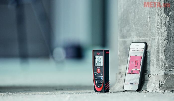 Máy đo khoảng cách laser Leica DISTOD2 New 100m có kết nối bluetooth 4.0
