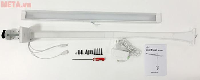 Các phụ kiện lắp đặt đèn kẹp bàn led Hàn Quốc Broadwing