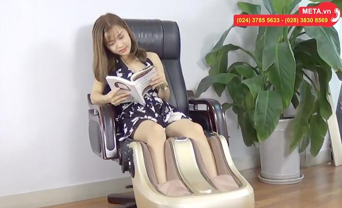 Máy massage chân Buheung MK-416 với hệ thống điều khiển dễ sử dụng.