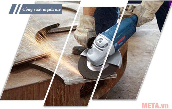Máy mài góc Bosch GWS 2000-230 cầm thao tác mài kim loại dễ dàng