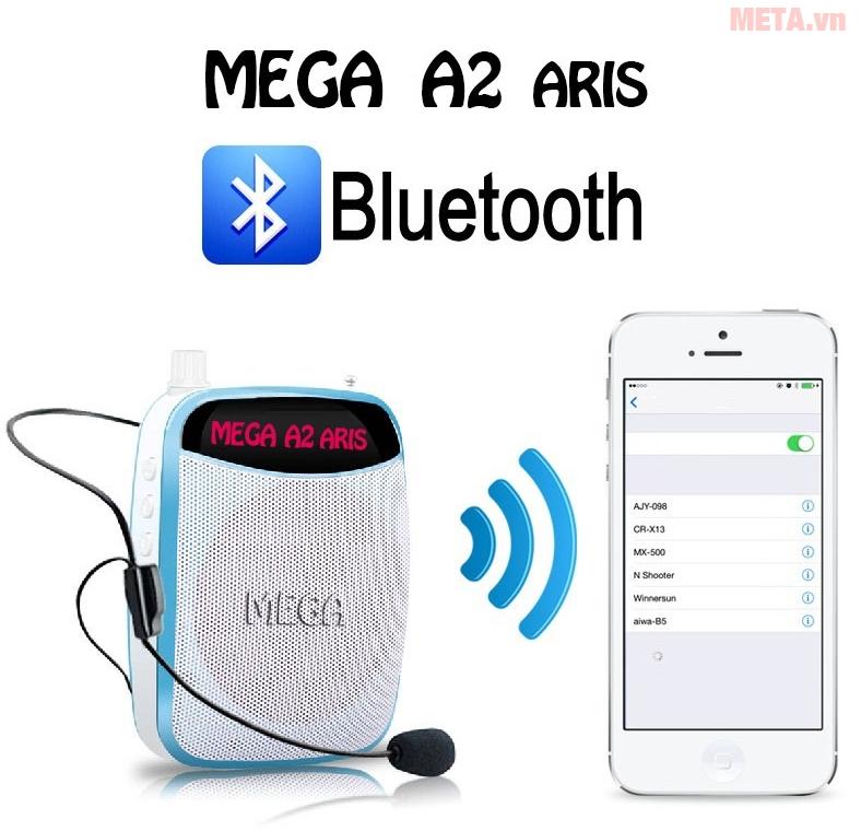 Máy trợ giảng Mega A2 UHF cho phép kết nối bluetooth