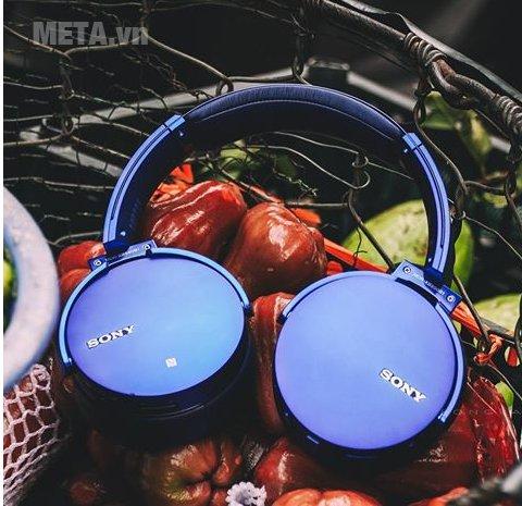 Tai nghe nhạc Sony MDRXB950B1 màu xanh