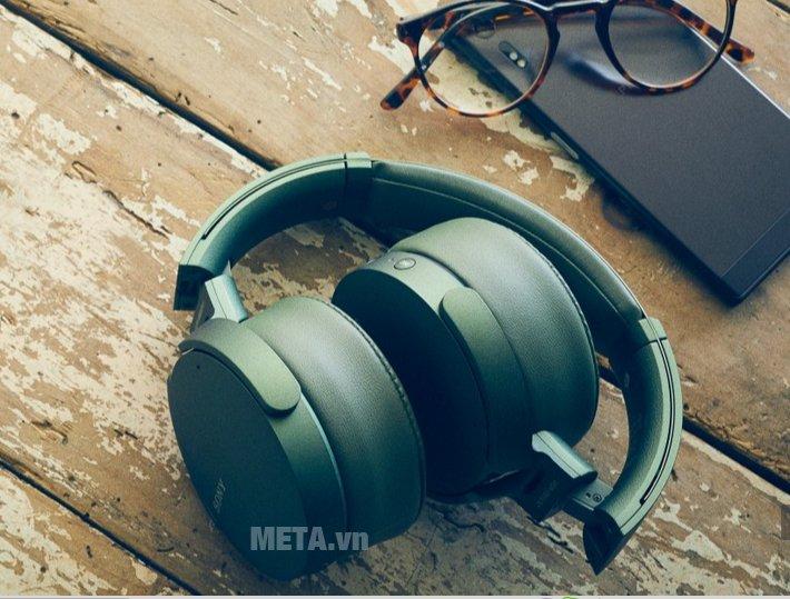 Tai nghe nhạc Sony MDRXB950N1 màu xanh