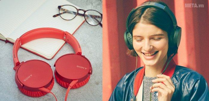 Tai nghe Sony Extra Bass MDRXB550AP có thiết kế hiện đại