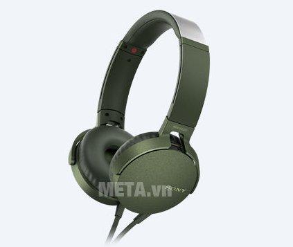 Tai nghe Sony Extra Bass MDRXB550AP màu xanh lá
