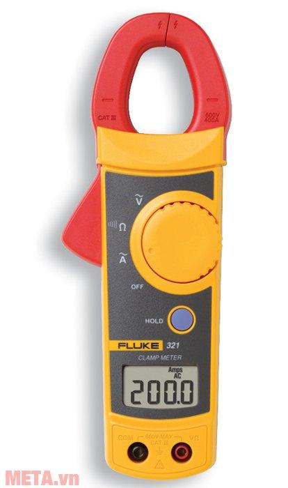 Ampe kìm Fluke 321 cho phép đo với độ chính xác 1,8%