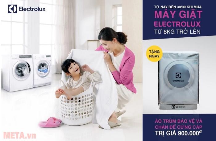 Quà tặng ưu đãi khi mua các mã sản phẩm thuộc hãng máy giặt Electrolux