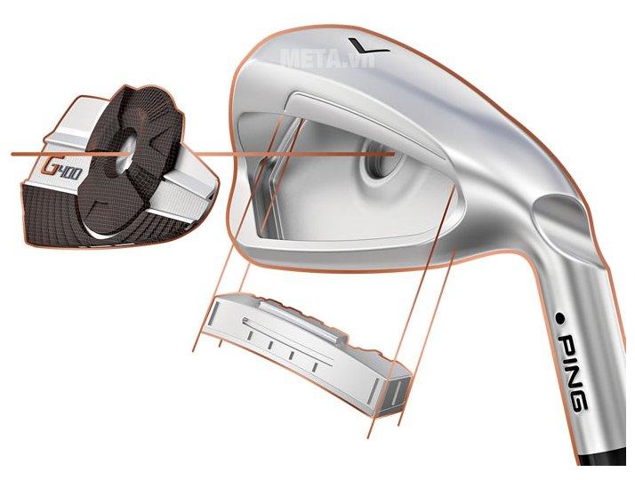 Bộ gậy golf Iron Ping G400 được áp dụng công nghệ tiên tiến