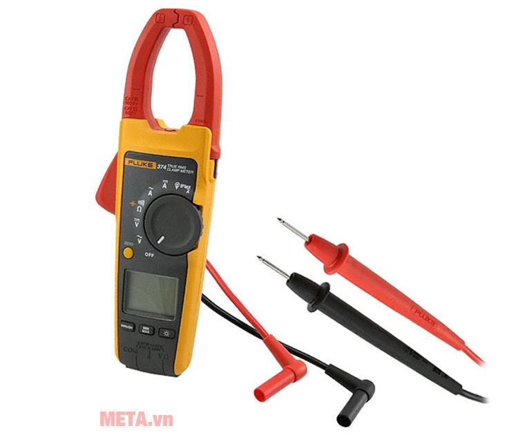 Ampe kìm Fluke 374 đo được dòng 600A