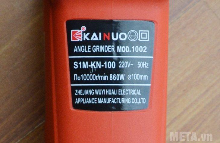 Máy mài Kainuo 100mm 1002 có công suất cực khỏe