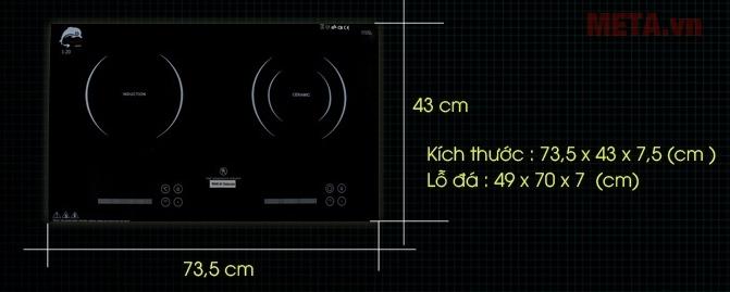 Kích thước cân đối phù hợp cho mọi diện tích nhà bếp hiện đại