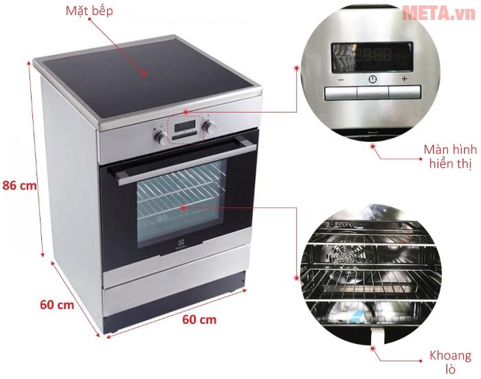 Thiết kế của tử bếp tủ liền lò Electrolux EKI64500OX