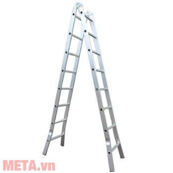 Thang nhôm khóa sập tự động Nikita Nika-30 có chiều cao khi sử dụng ở dạng chữ A là 3m