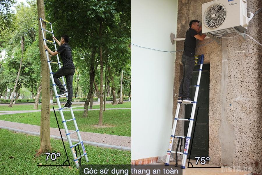 Sử dụng an toàn và đơn giản với thang nhôm rút Nikawa
