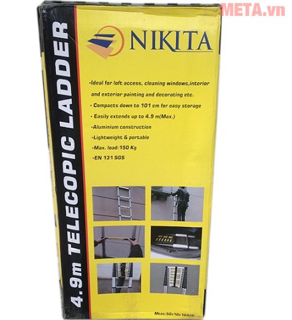Thang nhôm Nikita R41 có thể dễ dàng rút gọn