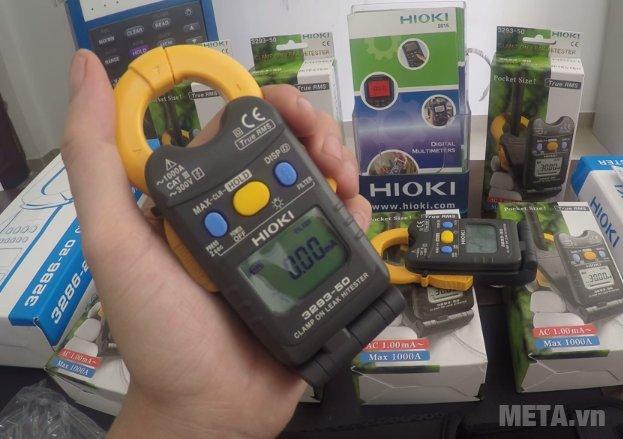 Ampe kìm đo dòng rò Hioki 3293-50 có trọng lượng 135g