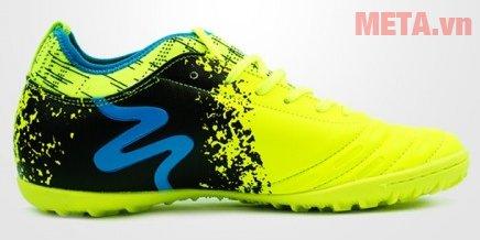 Giày đá bóng Mitre 160804 màu đen xanh nõn chuối