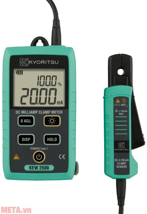 Ampe kìm Kyoritsu 2500 có dải đo từ 0.01mA - 120.0mA