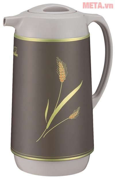 Hình ảnh bình thủy xoay rót Zojirushi AHGB-10 màu Wheat Brown
