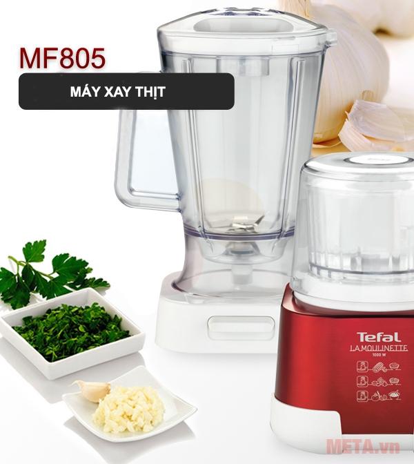 Máy xay thực phẩm đa năng Tefal MF805 kiểu dáng nhỏ gọn, dễ dàng sử dụng